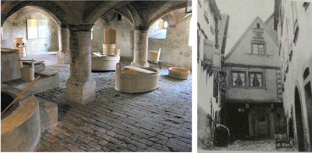 Bâtiment historique bains Obernai